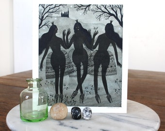 three black princesses (original painting)