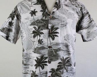 70s Aloha Hawaiian Shirt. Tropical Shirt. Tiki Bar Party Shirt . Vintage. Mens Size Medium. GOGOVINTAGE. FREE SHIPPING