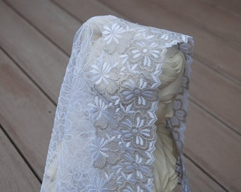St. Therese White Flower Mantilla