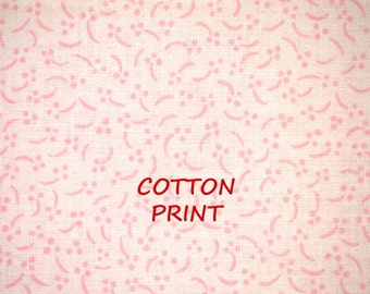 1 YARD, Pink Dots Curves Print, Quilt Cotton or Craft Fabric, ViP Cranston, Quilting Treasures, Anna Christine, B10