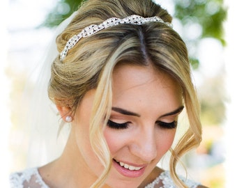 bridal headpiece wedding headpiece wedding tiara rhinestone bridal headband crystal headband