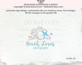 1401-19  sea star logo,  starfish logo, photography logo, Premade Logo Design, custom logo design / camera logo business logo