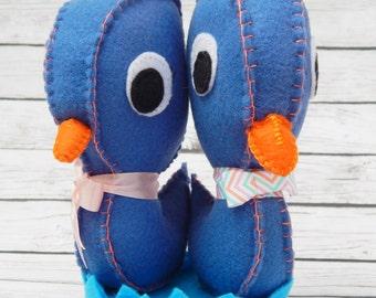 Easter Duckies Felt Art Dolls Easter Swim