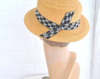 1980s DKNY Straw Hat