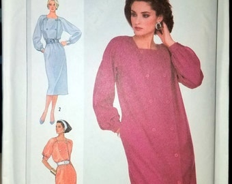 Vintage Simplicity Dress Pattern 7691 from 1986 Un-cut pattern with instructions