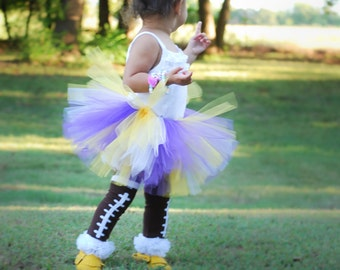 LSU Baby Tutu in Purple and Gold with Flower Headband - Minnesota Vikings Tutu Set - LSU Tutu - Toddler Tutu - Baby Tutu Set - Tutu Dress
