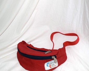 Well, Call Me Fanny! - Campus Club Bright Red Fanny Pack with Two Zippers and Adjustable Waist Strap