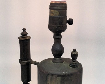 Vintage Brass Blow Torch Lamp