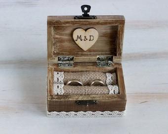 Wedding Ring Bearer Box We Do I Do Box Custom Wedding Box Rustic Ring Bearer Box Engagement Box Pillow Alternative Bridesmaid Gift Key Box