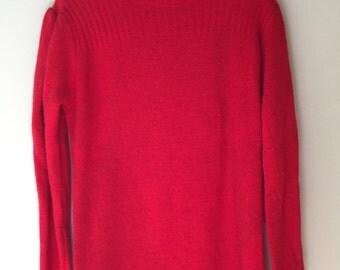 Red Sweater dress size medium