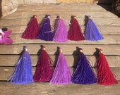 """Silky Tassels 3"""" inches Set Of 10  Mixed Color"""