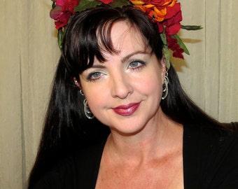 FALL KISSES Headdress Hair Adornment OOAK Floral Headband