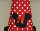 Minnie Apron For Teens and Pre-Teens Ispired by our LOVE of  Minnie Mouse reversible with a Ruffle