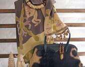 Rich chocolate brown silk...