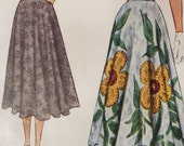 Headed down to the vintage car show circle skirt pattern McCall 7962
