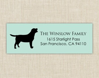 Return Address Labels. Return address label sticker. Dog address labels