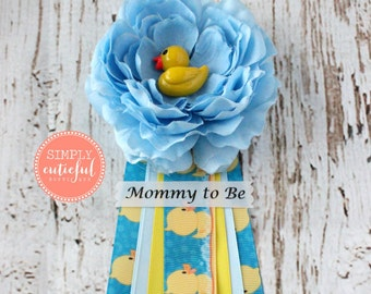 Duck Baby Shower Corsage. Rubber Ducky Baby Shower Corsage Mommy to Be Grandma to Be Pin Clip
