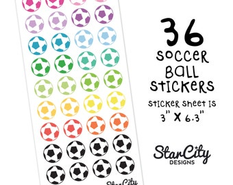 Soccer Ball Stickers, Soccer Planner Stickers, Sports Stickers, Football Stickers, Game Day Planner Stickers, Decorative Stickers, Soccer