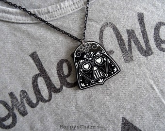 Candy Skull Vader -Necklace