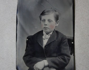 Antique Carte de Visite (CDV) and Tintype of Young Boy