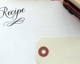 Recipe stamp | hand calligraphy stamp | gift