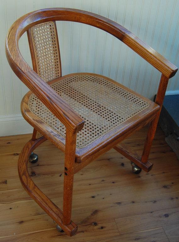 Antique Wooden Desk Chair On Wheels Home Decor Takcopcom