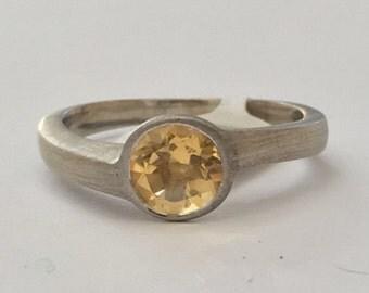 Modern Citrine Ring