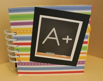 School Days, School mini photo album, 6x6 photo album, mini scrapbook, School brag book, School mini album, premade mini scrapbook, WK144