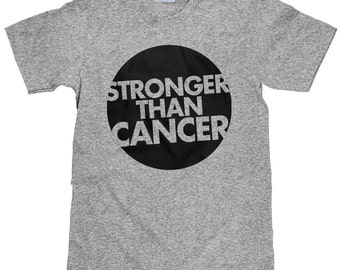 Cancer Survivor Tee Shirt - Stronger Than Cancer - Breast Cancer Unisex T Shirt - Item 2066