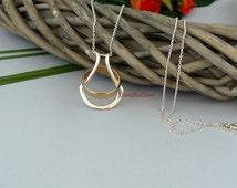 Silver Ring Holder Necklace, Wedding Ring Holder, Wife, Nurse, Doctor, Engagement