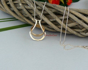 Ring holder etsy for Wedding ring necklace