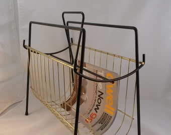 MCM 1960s Wire Magazine Book Record Rack - a Groovy way to Organize Stuff