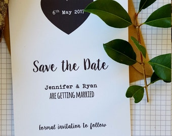 Love Heart Save The Date card x 30