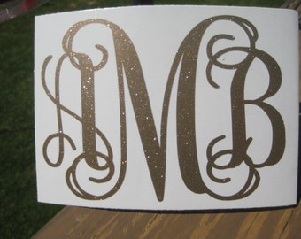 Monogrammed Car Etsy - Monogram decal on car