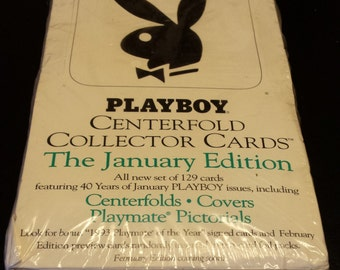 Vintage January 1993 Unopened Playboy Centerfold Collector Cards