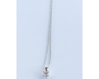 Sparkling Necklace - Sterling Silver, cz necklace. necklaces, silver necklace