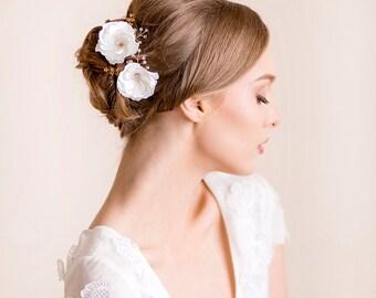 Bridal Flower Pin Eustoma - Wedding Hair Pin, Flower Hair Pin Set of 2 - Bridal Hair Accessory - Floral Hairpiece - Delicate Headpiece