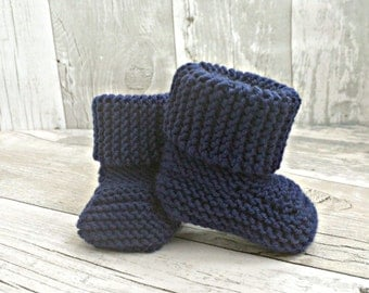 Newborn Booties, Baby Boy Booties, Knit Baby Booties, Baby Boy Boots, Newborn Boy Baby Bootees, Infant Shoes, Baby Crib Shoes, Gift for Baby