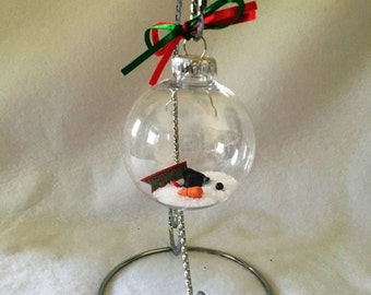Melted Snowman Ornament/ Florida Snowman/ Frosty Ornament/ Children's Ornament/ Gifts For Teachers/ Ornaments Under 30/ Novelty Ornament
