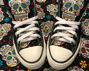 Sugarskull Converse Chuck Taylor Shoes
