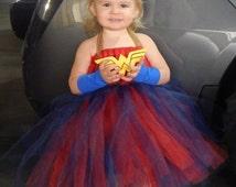 Wonder Woman Costume, Tulle Dress