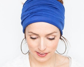 Blue Headband  Extra Headband Blue Turban Head Wrap Headband Yoga Headband Workout Headband Boho Headband Hairwrap Hair accessories