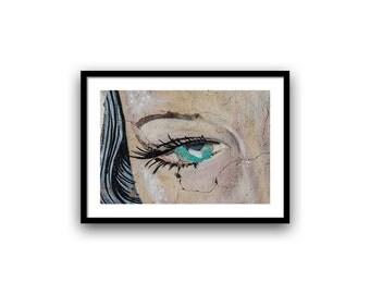 Street Art, Graffiti Wall Art, Urban Photography, Fine Art Print, Affordable Art, Fine Art Photography, 5x7-12x16 inch, Brown Black Green