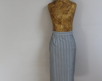 Vintage skirt pencil skirt 80s skirt 1980s skirt size 6 8 skirt stripy skirt summer skirt size skirt high waisted skirt 1950s retro wiggle