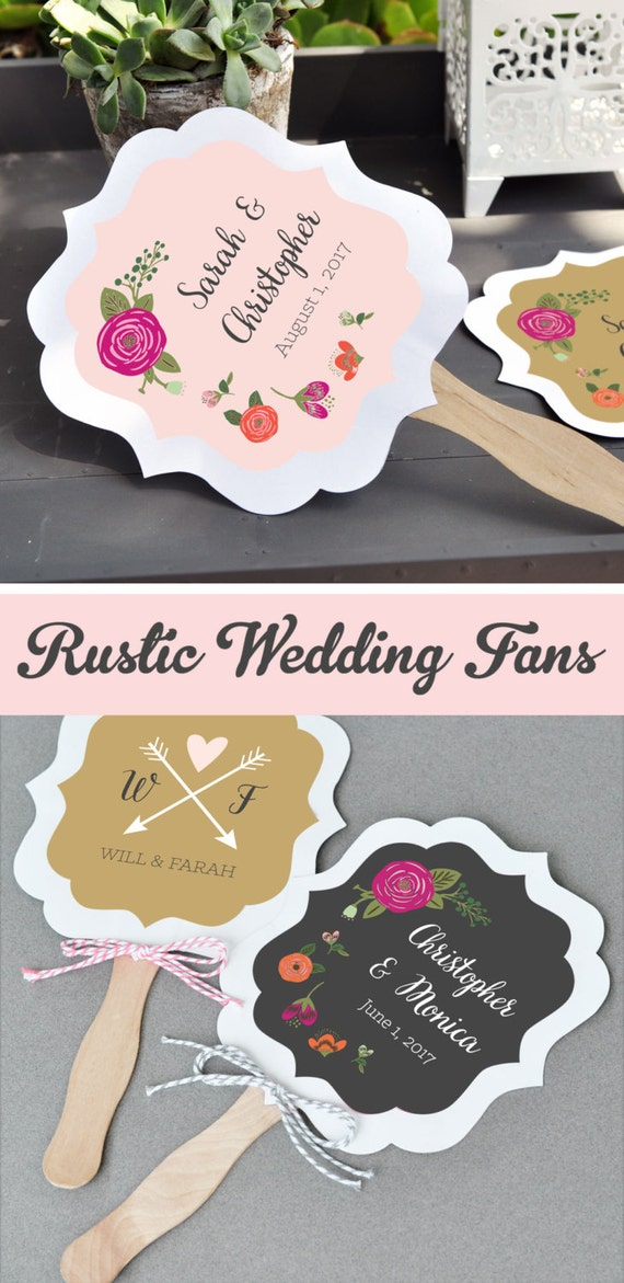 Rustic Wedding Fan Favors Wedding Fans Wedding Hand Fans