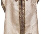 Elegant Off-White Tallit Prayer Shawl set, Tallis, Bar or Bat Mitzvah gift, Jewish wedding, Jewish prayer shawl, matching Tallit bag, OOAK