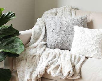 Faux Fur Throw Blanket | Sofa Throw | Decorative Blanket | Faux Fur Blanket  | Bed