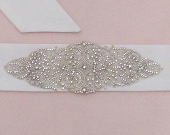 Wedding belt, Swarovski belt, Crystal belt, wedding sash belt, bridal sash belt, jeweled belt, beaded belt, Swarovski sash belt, dress belt