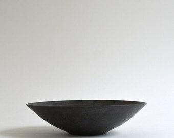 Sumi Black Shallow Bowl, Made to Oeder for 3 months ; Wakako Senda (13003015)