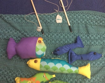 Magnetic fishing game with unique fish